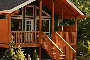 Carson Ridge Luxury Cabins and B&B :: Deluxe luxury B&B cabins invite you to relax in privacy. Plenty of outdoor recreation such as windsurfing, hiking & biking. Indoors, enjoy great food & our massage svcs.