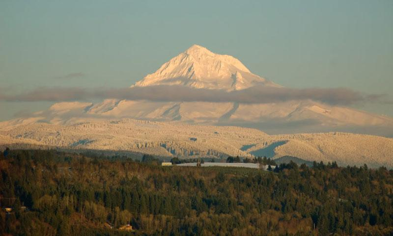 Snow Covered Mount Hood