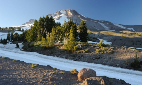 Summer Ski Track on Mount Hood