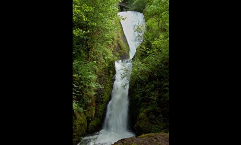 Bridal Veil Falls near Hood River Oregon