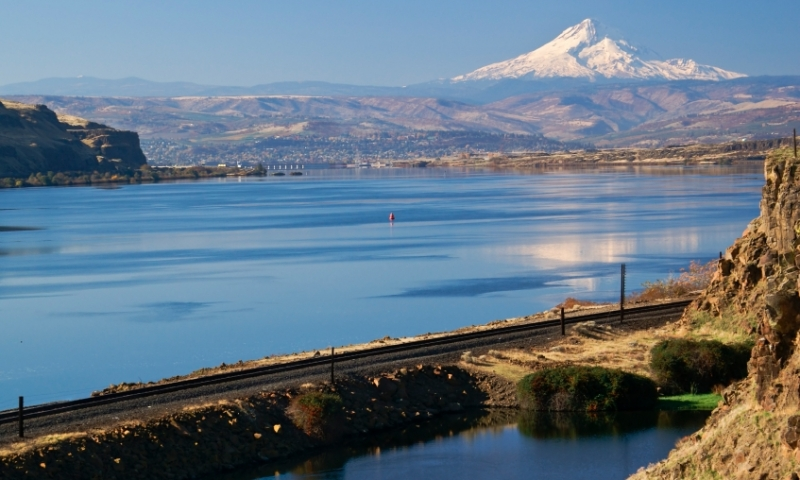 Overlooking the Columbia River and The Dalles