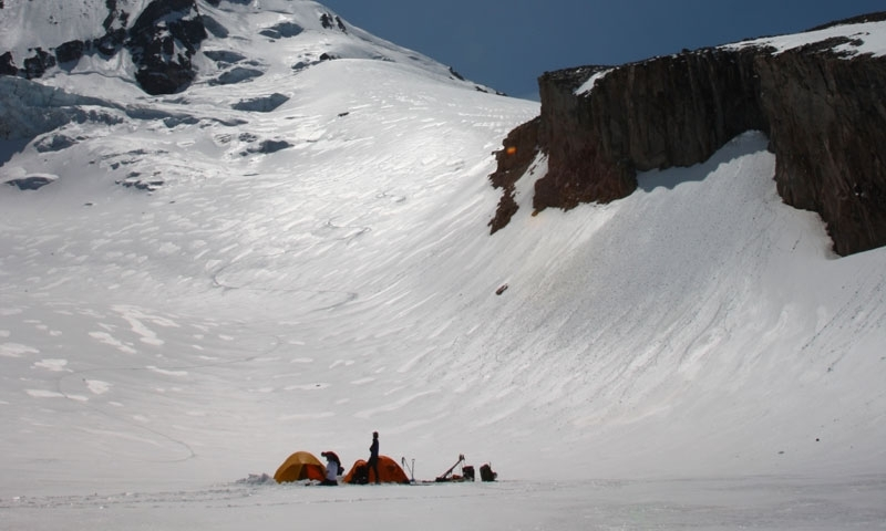 At the Basecamp of Mount Hood