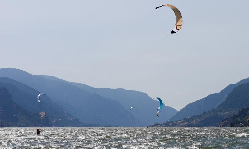 Kite Boarding the Columbia River Gorge